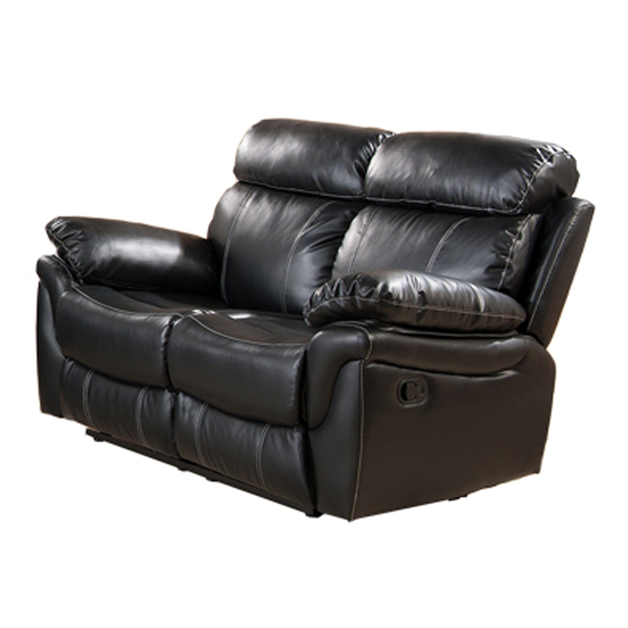Milton Greens Stars Sophia Reclining Love Seat, 67 Inch By 38 Inch By 40  Inch, Black. Luxurious, Plush Faux Leatherette Upholstery With Subtle  Stitching.