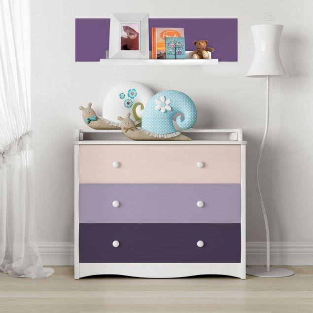 Carta Adesiva per Mobili 3 colours violet flowers
