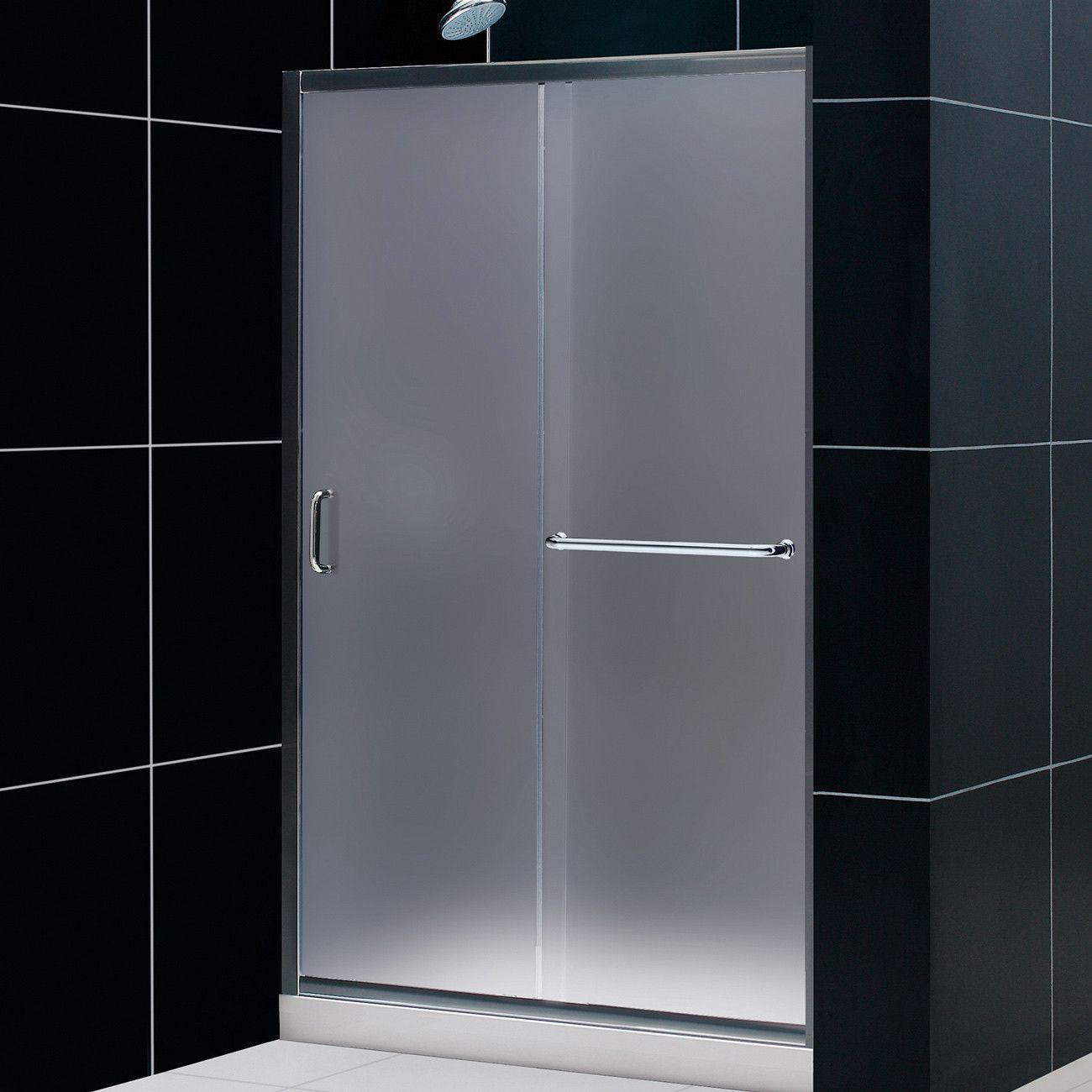Dreamline Shdr 0948720 04 Fr Infinity Z 44 To 48 Sliding Shower Door Frosted 1 4 Glass Nick Shower Doors Frameless Sliding Shower Doors Sliding Shower Door