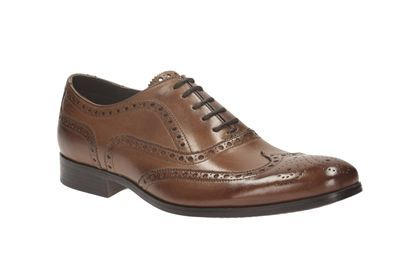 Clarks Banfield Limit - Tan Leather - Mens Formal Shoes | Clarks