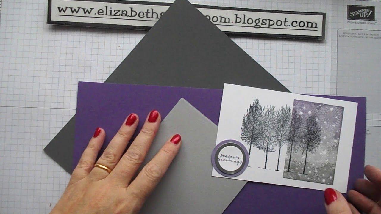 Weihnachtskarten Katalog.Winter Woods With Bokeh Dots Stampin Up Kartenideen Karten Und