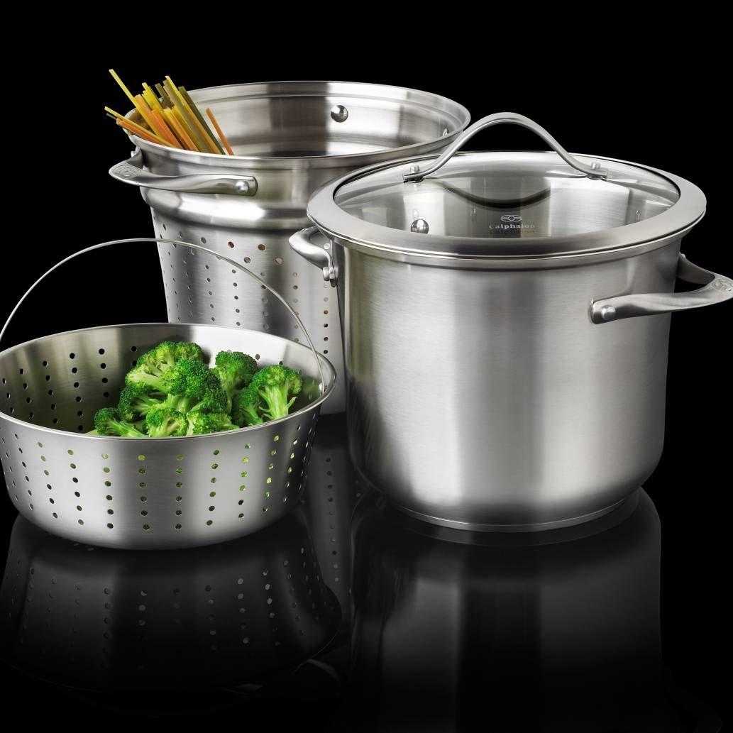 Calphalon® Contemporary Stainless Steel 8-Quart Multi-Pot ...