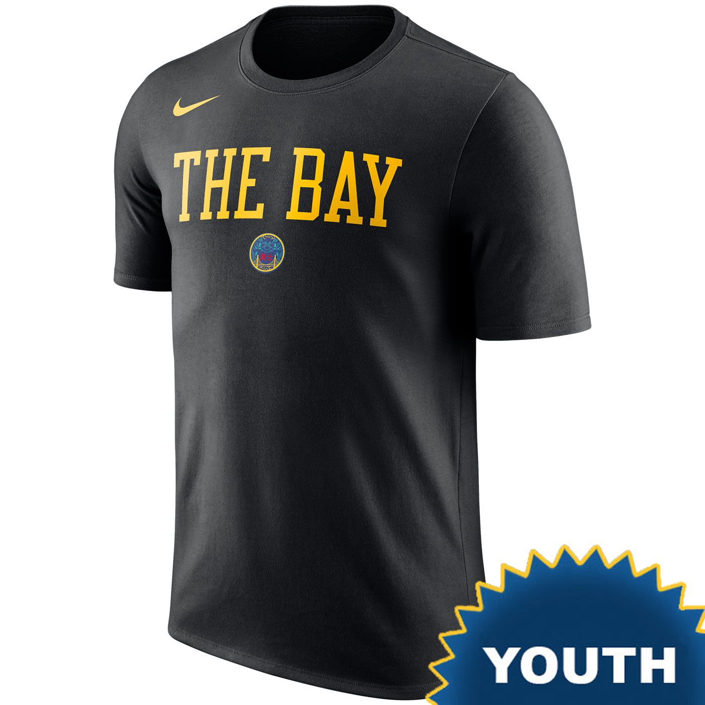 13499449ed8 Golden State Warriors Nike Dri-FIT Youth Chinese Heritage City Edition  The  Bay  Team Tee - Black