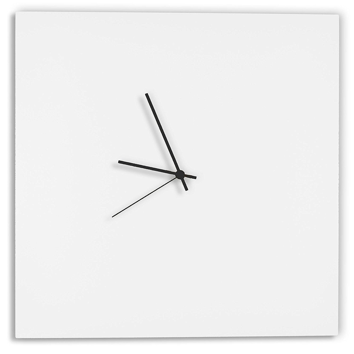 Modern White Clock U0027Whiteout Black Square Clocku0027 Minimalist Metal Wall  Clocks, Contemporary Decor   16in. White W/ Black Hands    Details Can Be  Found By ...