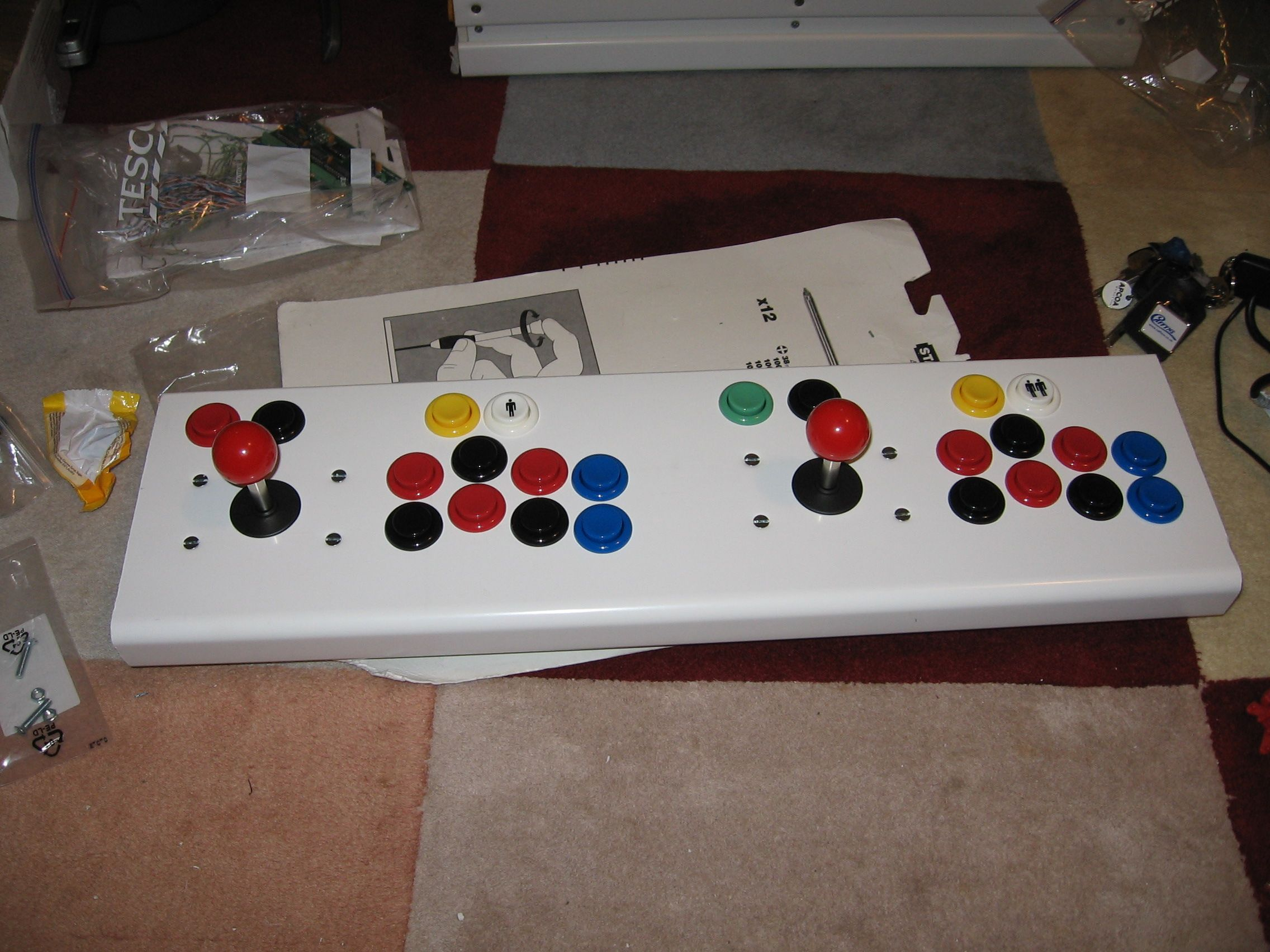 USB Keyboard Controller, Arcade Joystick build, demo with