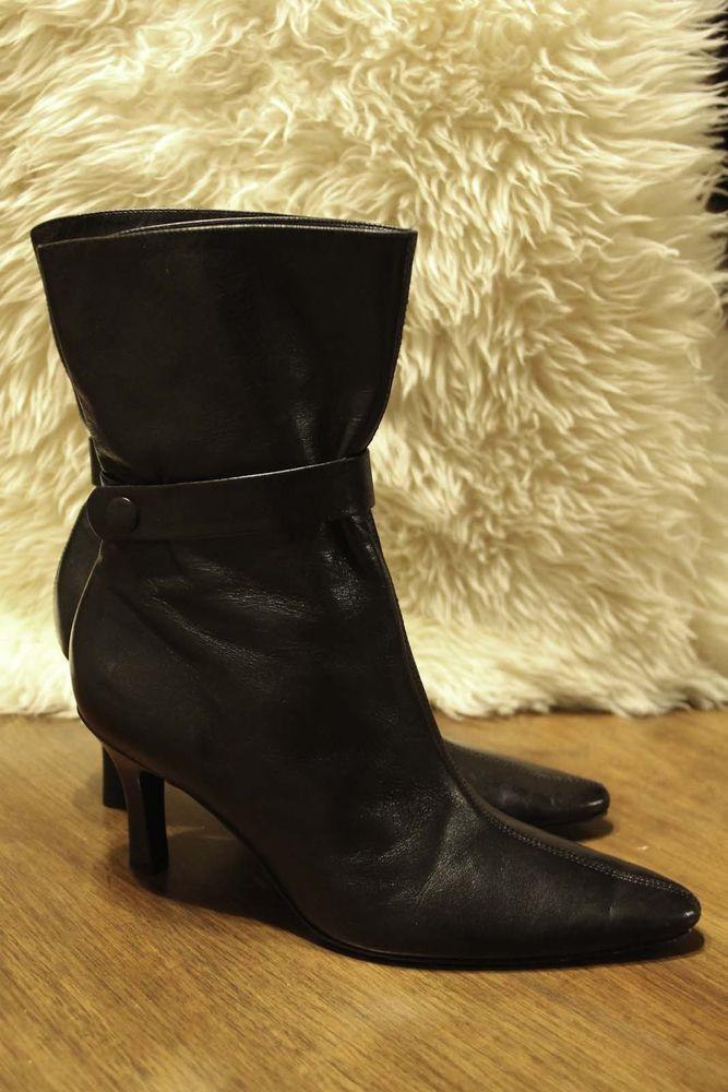 Woman's Antonio Melani Glove Fit Boots Slip On Heel  Size 6.5 M #AntonioMelani #FashionMidCalf