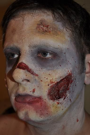 Zombie makeup! Going to attempt to try doing this for my dad... I know how much he loves the Walking Dead