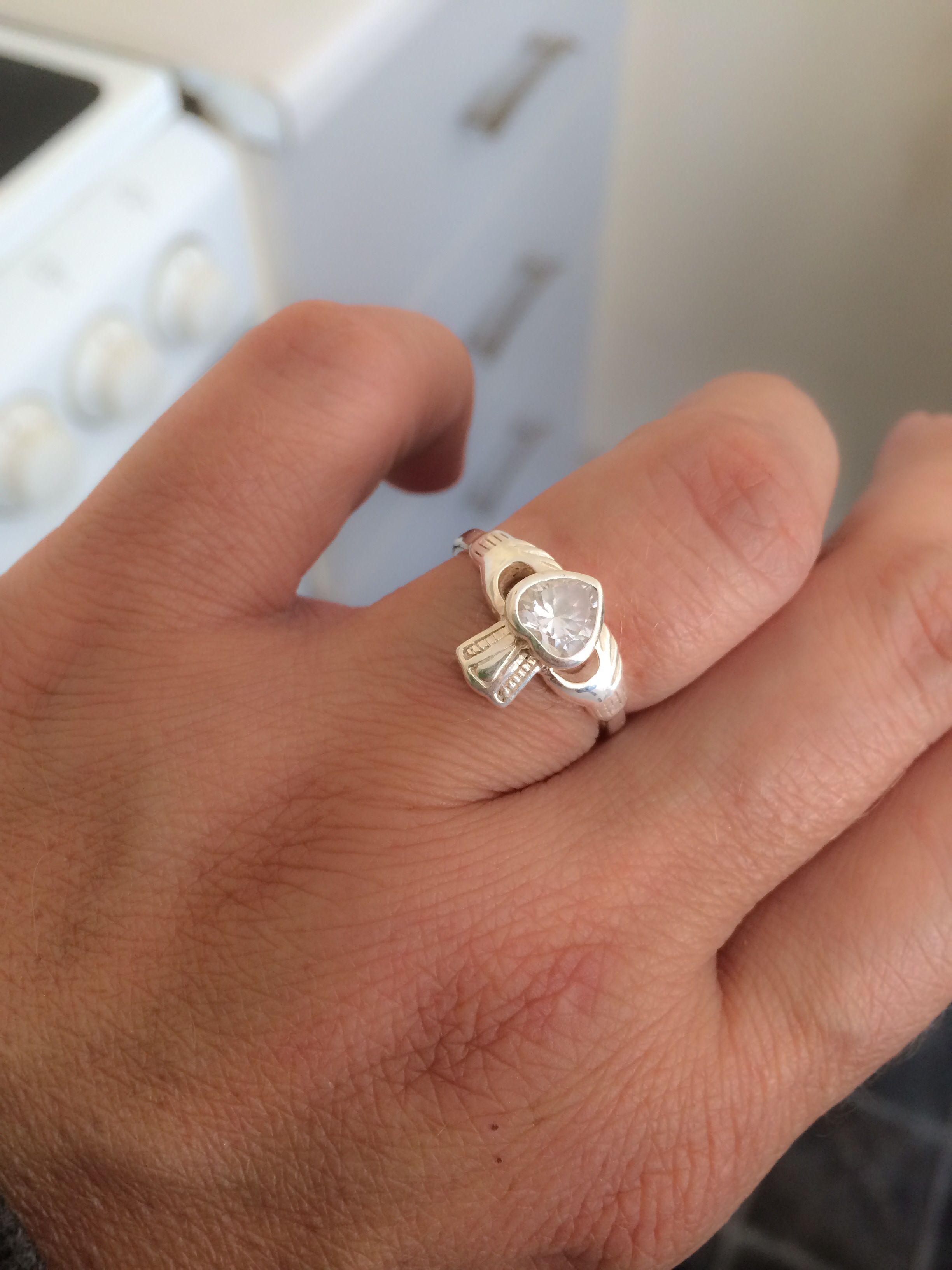 My diamond Claddagh engagement ring from my sweet Irish fianc