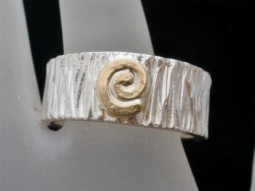 Signed Relios Carolyn Pollack 14k Gold Sterling Silver Size 8 Ring MLP Vintage | eBay