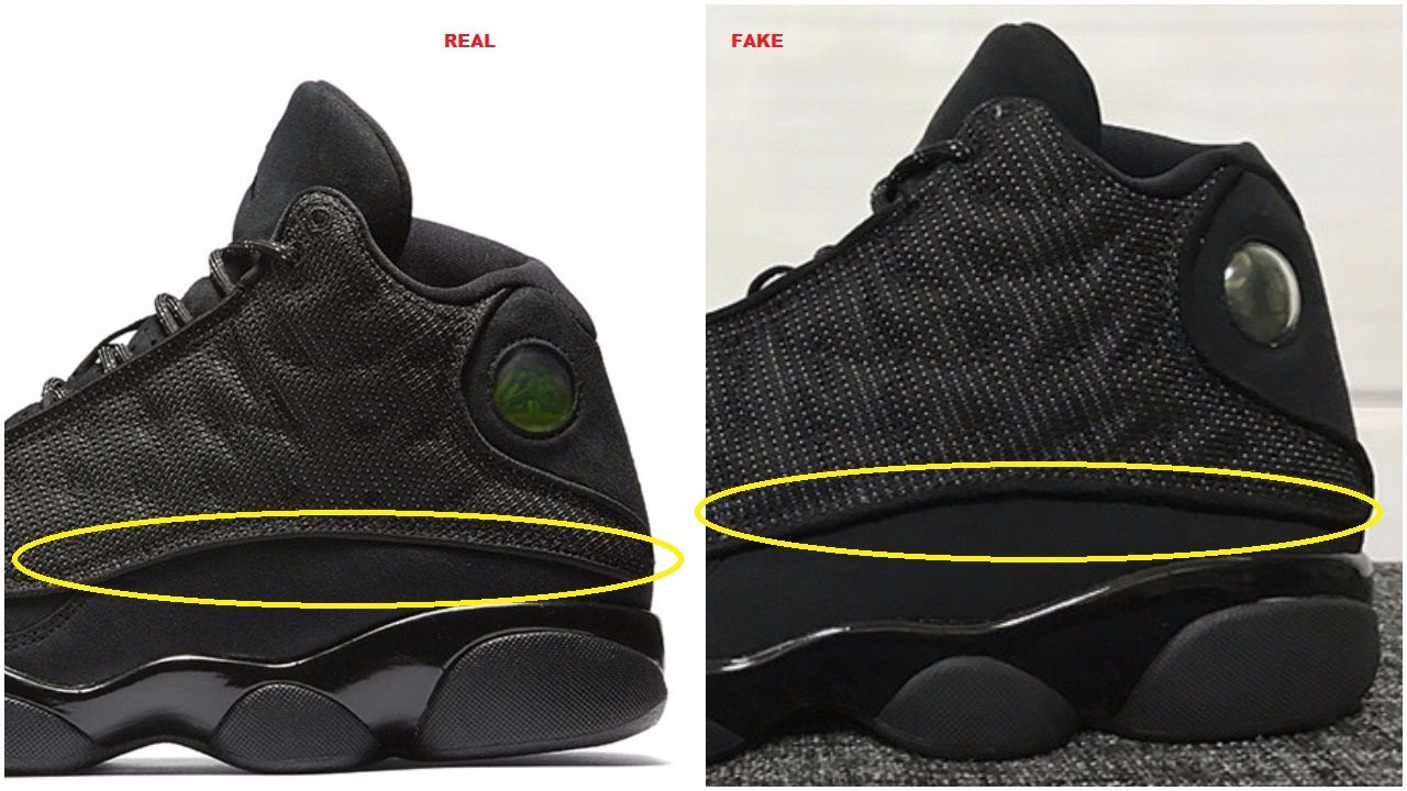 free shipping d6d1d 8b75b Don't Get Got : Real VS Fake Air Jordan 13 XIII Retro Black ...