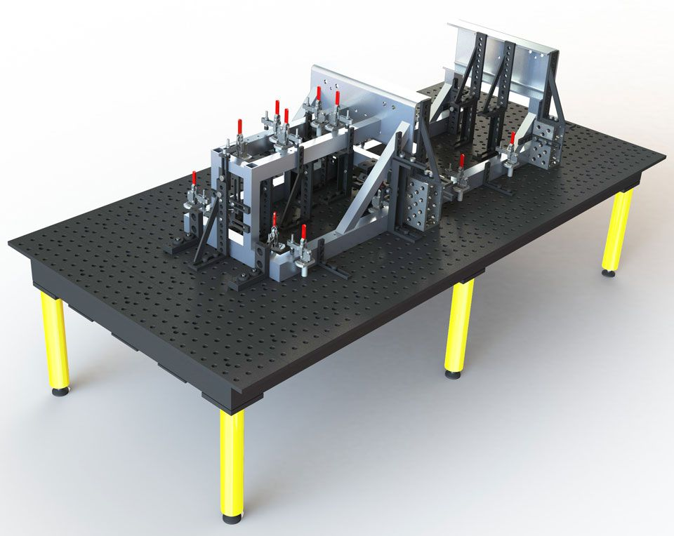 4/' Fixturing Table Welding And Fab Style Plates Buildpro Stronghand style