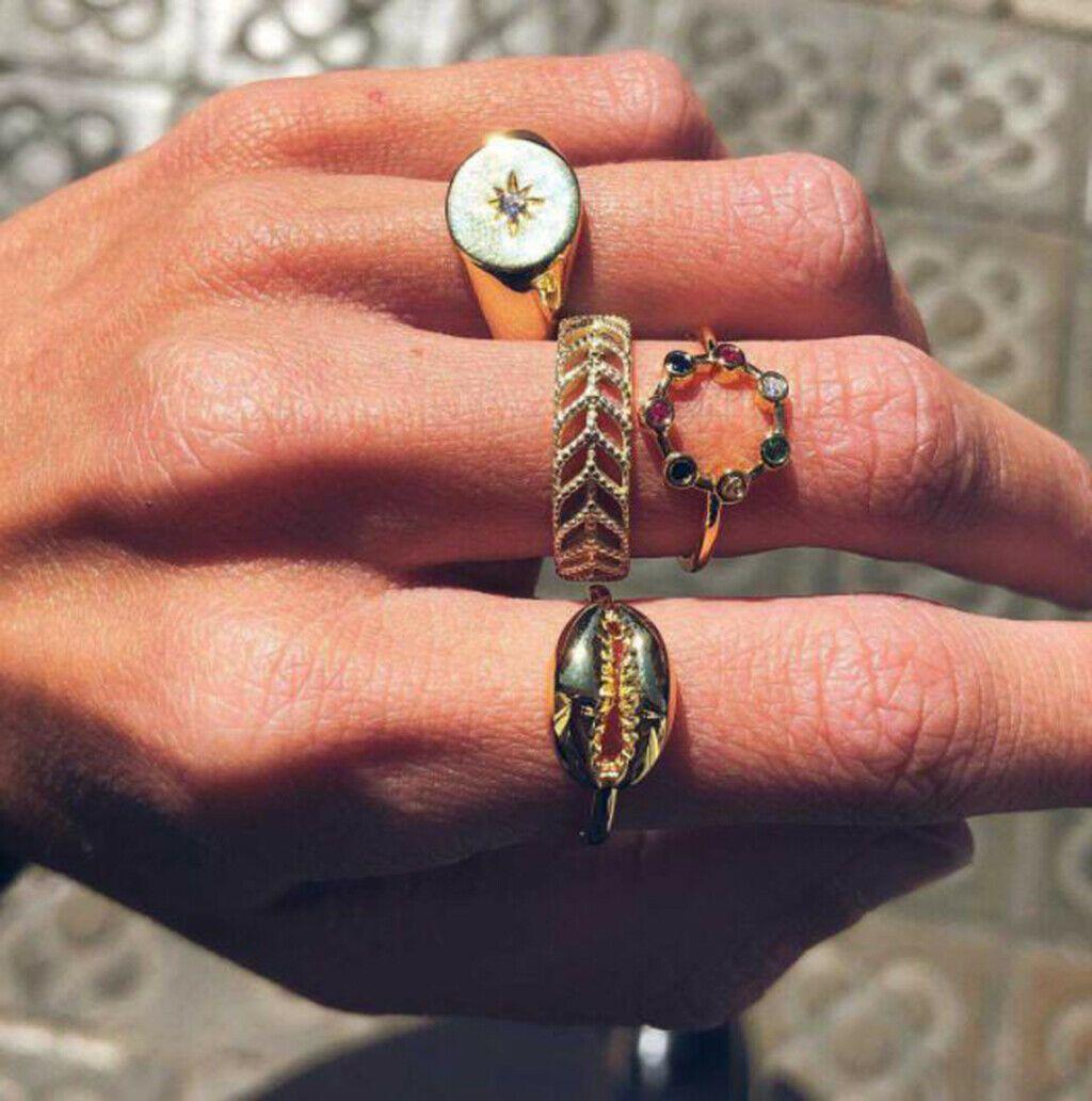 10 Pcs Set Gold Midi Finger Ring Set Vintage Punk Boho Knuckle Rings Jewelry Ebay Anillos De Oro Anillos De Plata Anillos De Compromiso