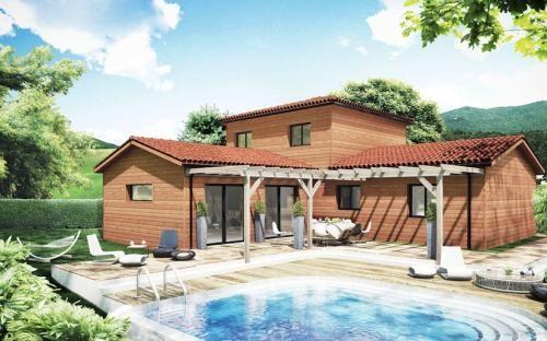 maison bois en u - Recherche Google Idees maison Pinterest Salons - construire sa maison en guadeloupe