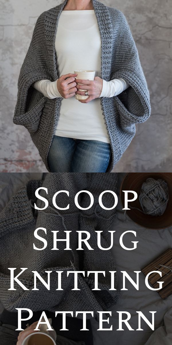 Scoop Shrug Knitting Patterns : Glamorous by Brome Fields #shrugsweater