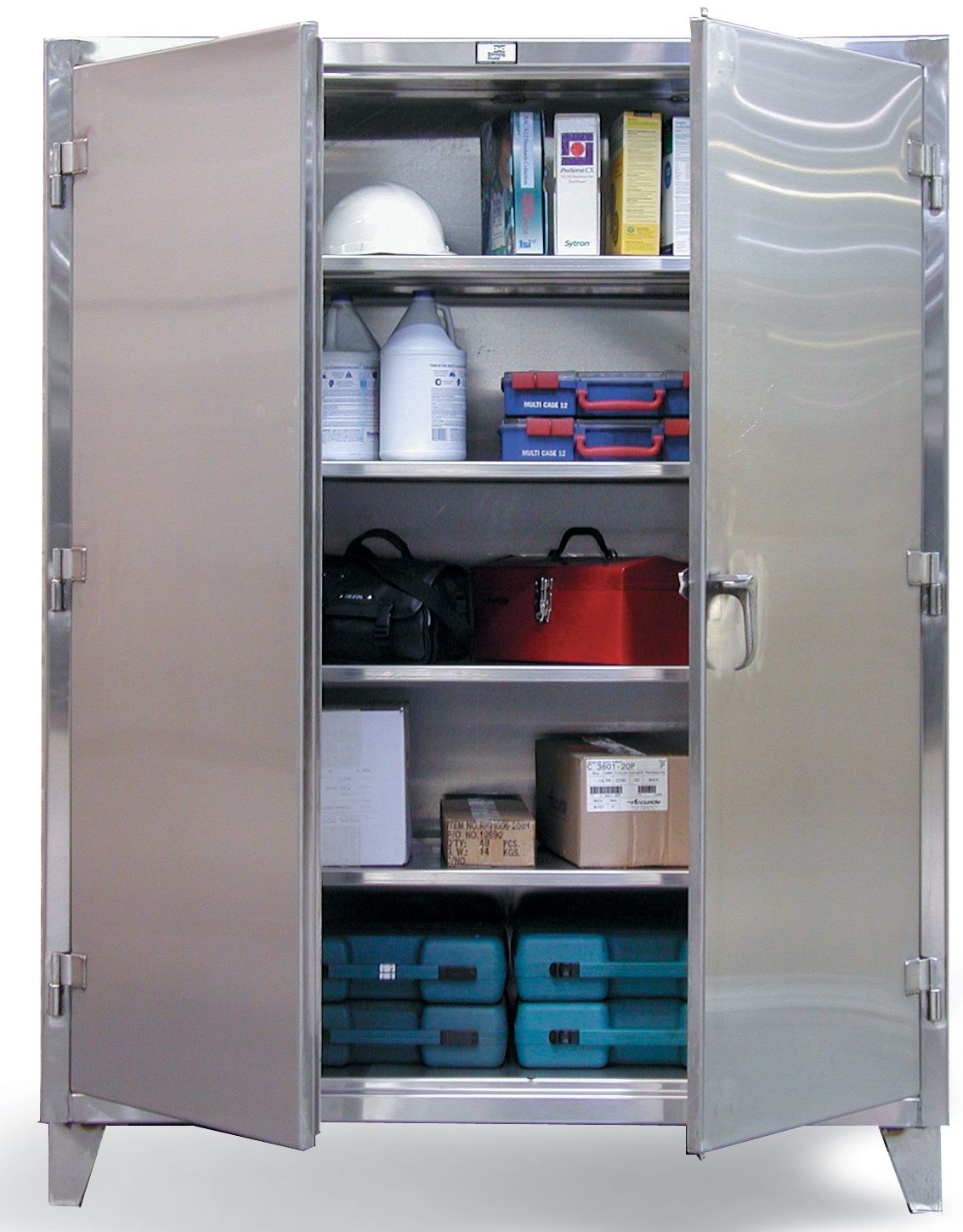 Strong Hold Products Steel Storage Cabinets Stainless Steel Cabinets Door Storage