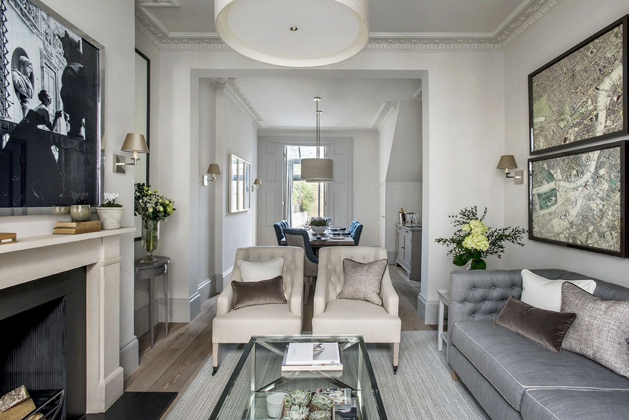 London Townhouse Open Plan Living Sims Hilditch Interior Design