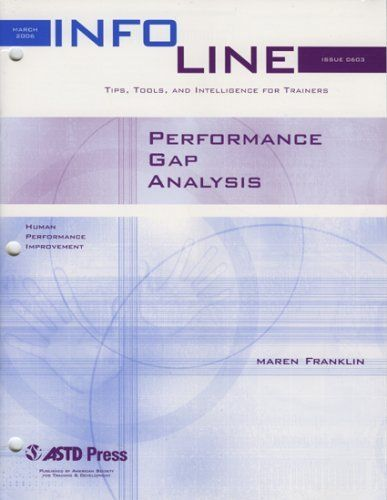 Performance Gap Analysis (Infoline ASTD) by Maren Franklin $2495