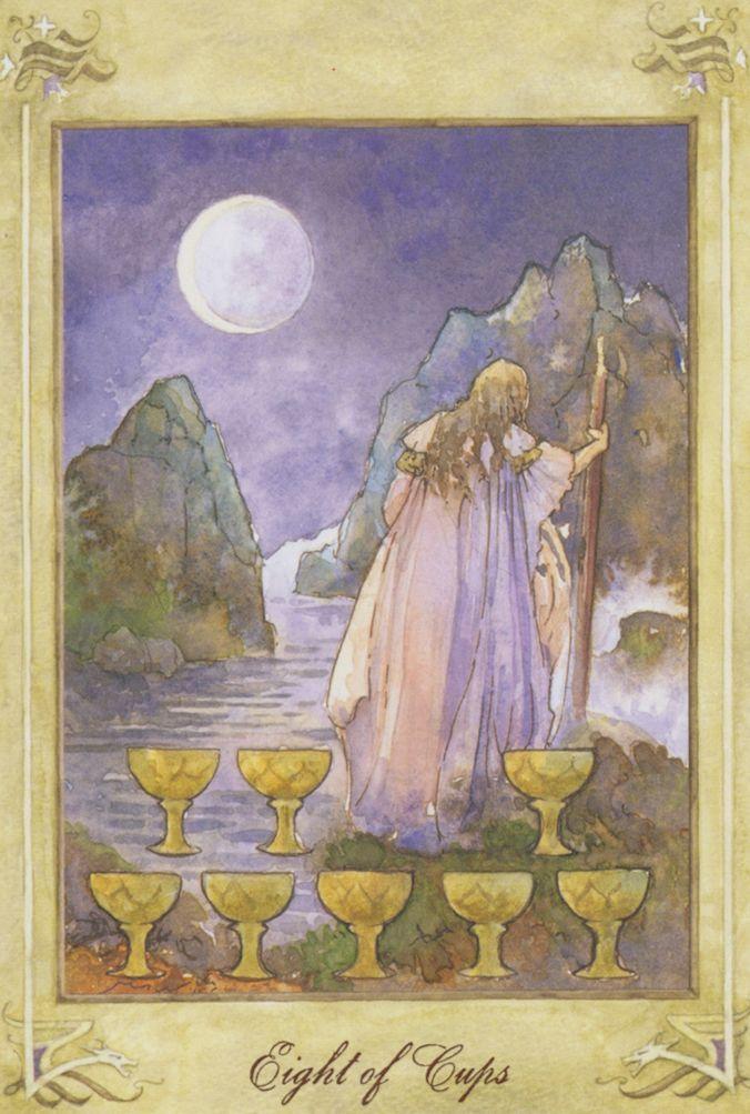Llewellyn Tarot By Anna Marie Ferguson 8 Of Cups Tarot Eight