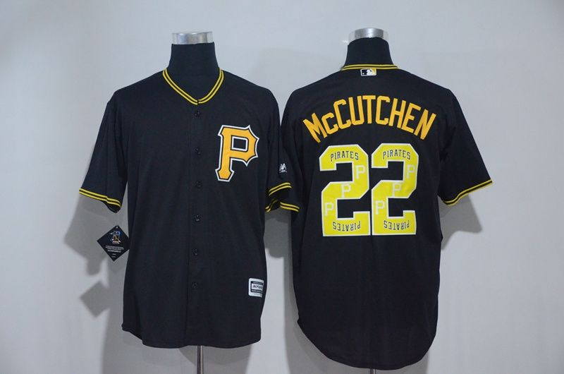 Men's Pittsburgh Pirates #22 Andrew McCutchen Black Long Sleeve Baseball Jersey