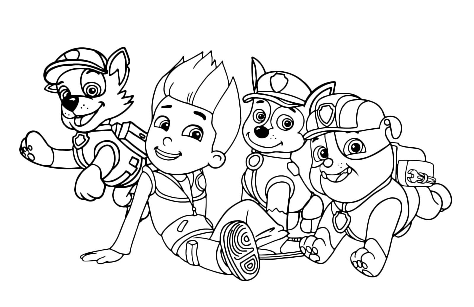 48++ Chase paw patrol colouring sheet ideas