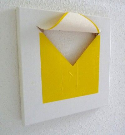 Yellow Paintings by French artist  Roland Orépük - Minimalissimo