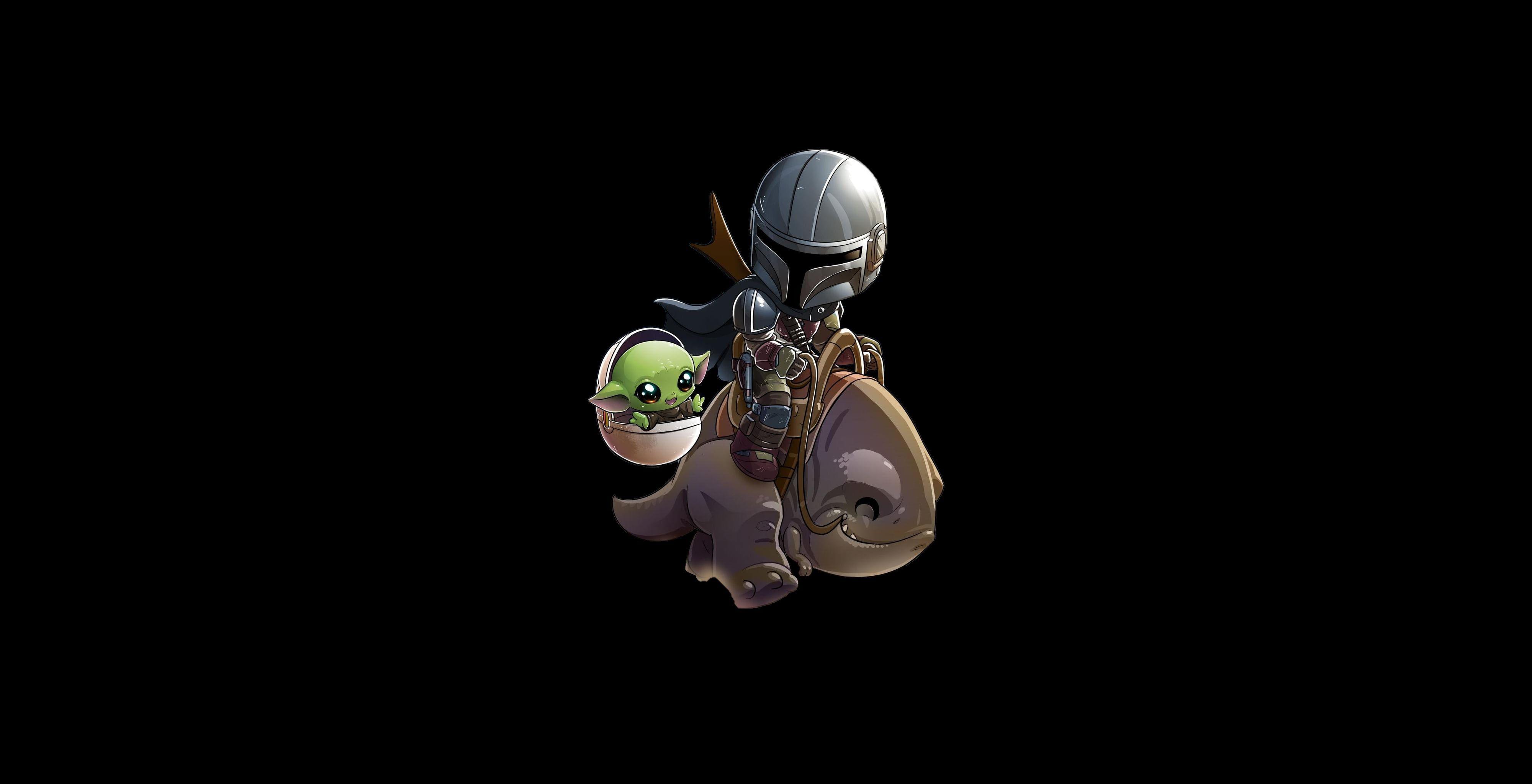 Minimalism Star Wars Baby Yoda The Mandalorian 4k Wallpaper Hdwallpaper Desktop In 2020 Hd Wallpaper Yoda Star Wars Images