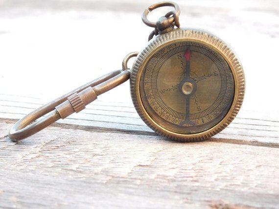 Custom Keychain Personalized Keychain Keychain Compass Etsy Compass Keychain Custom Keychain Personalized Keychain