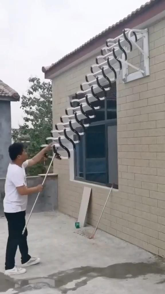 Wall-Mounted attic Telescopic Ladder Home