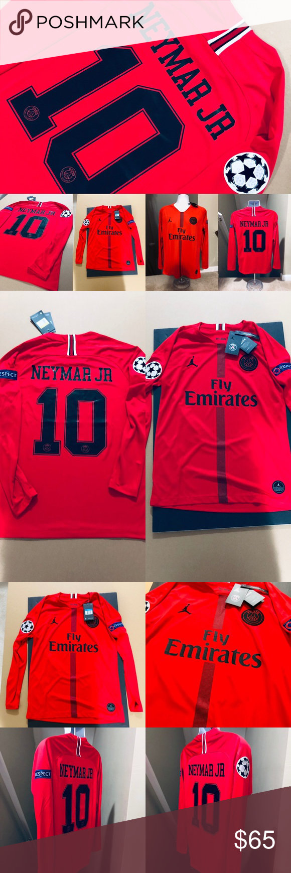 new product e68f3 16679 2019 Jordan ⚽️ PSG Neymar Jr #10 Soccer Jersey 🚨 2019 ...