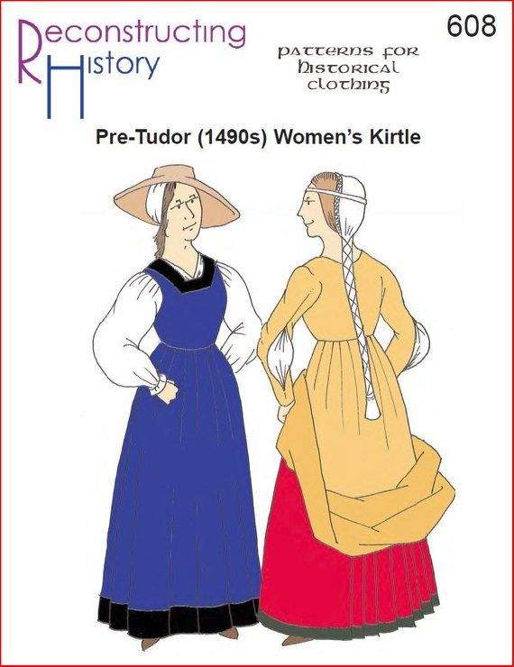 RC608 - 1490s (pre-Tudor) Woman's Kirtle Sewing Pattern by
