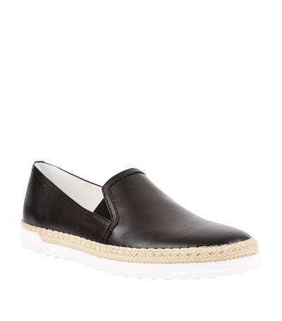 Tod's Slip-on Gomma Rafia leather