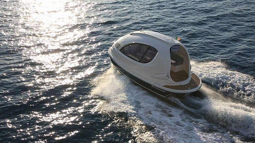 pierpaolo lazzarini invents a futuristic water jet capsule in italy
