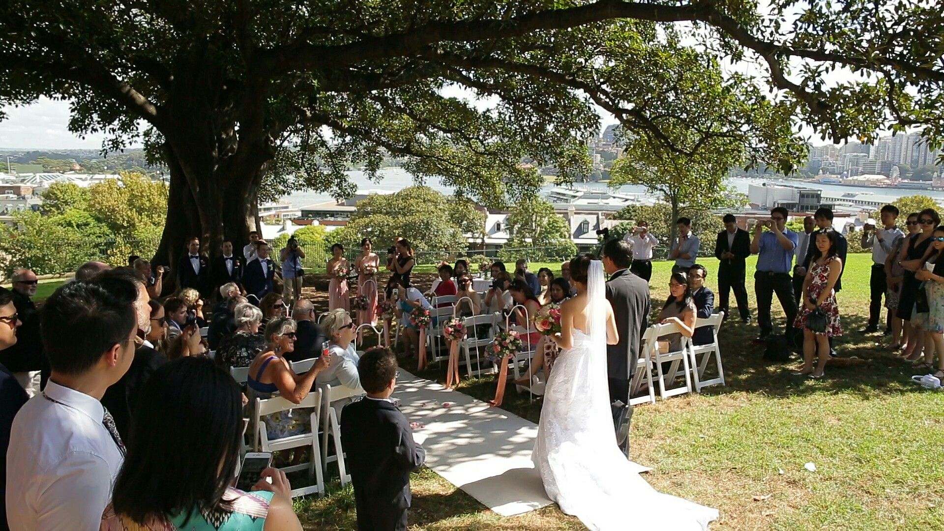 Observatory Hill Wedding Ceremony A Lovely Bride With Gorgeous Gown Walking Down The