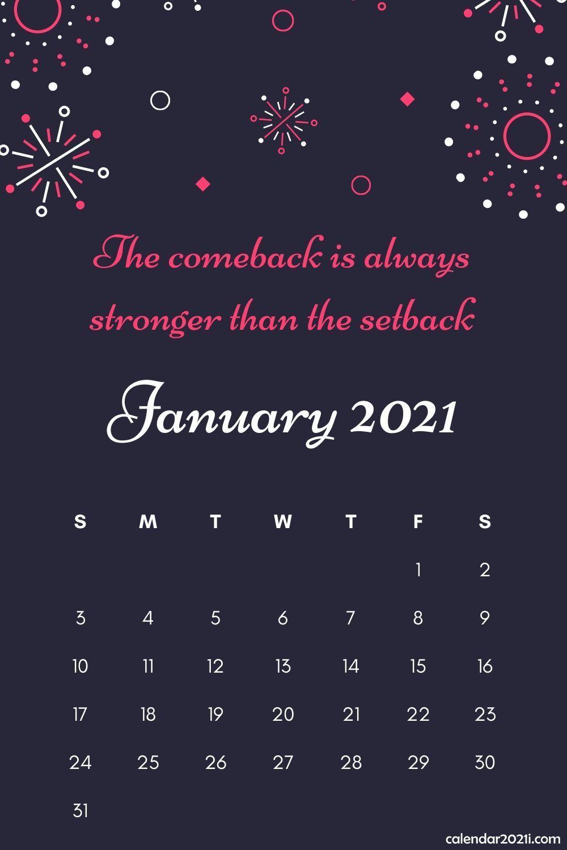 Inspiring 2021 Calendar Monthly Quotes | Calendar 2021 in 2020