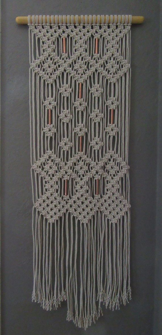 Wall Hangings Etsy sale macrame wall hanging with copper beadsjonatis on etsy