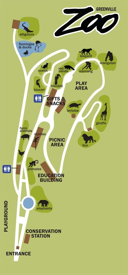 Greenville Zoo Map // yeahTHATgreenville | Things To Do in ... on kansas city zoo, dallas texas zoo, omaha zoo,