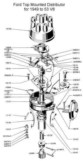 ford 8ba top mounted distributor