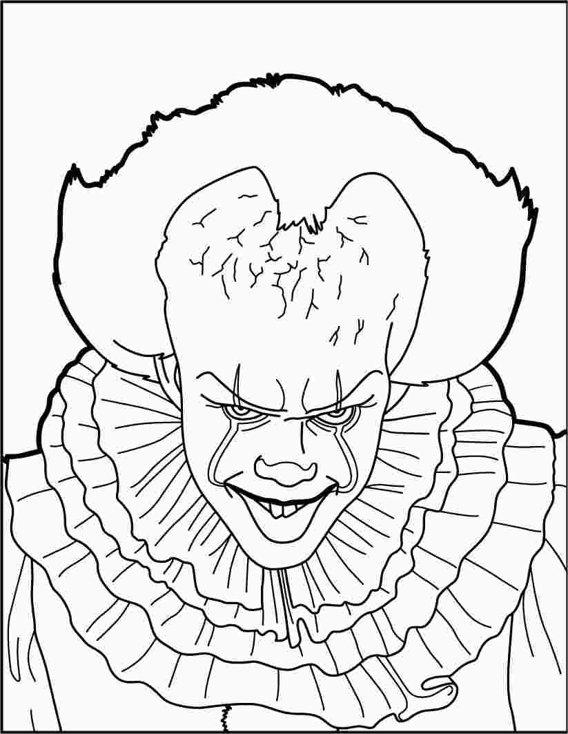 Pennywise The Clown Coloring Pages In 2020 Scary Coloring Pages