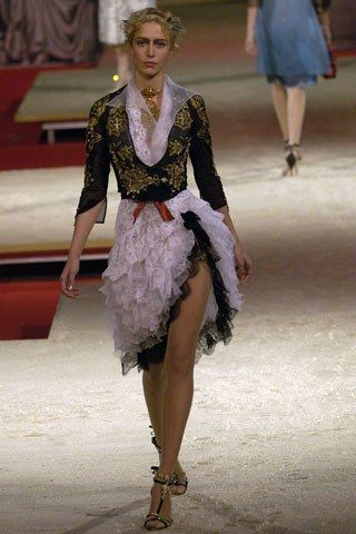 Christian Lacroix Spring 2006 Couture Fashion Show - Raquel Zimmermann