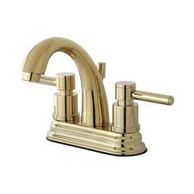 Elements Of Design Polished Brass 2-Handle 4-In Centerset Bathroom Fau