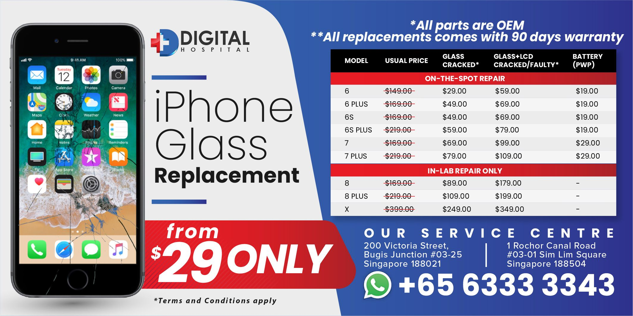 An authorized iPhone repair service provider in Singapore