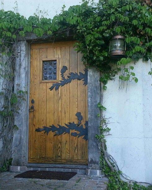 Door Of Mushroom House In Charleviox MI