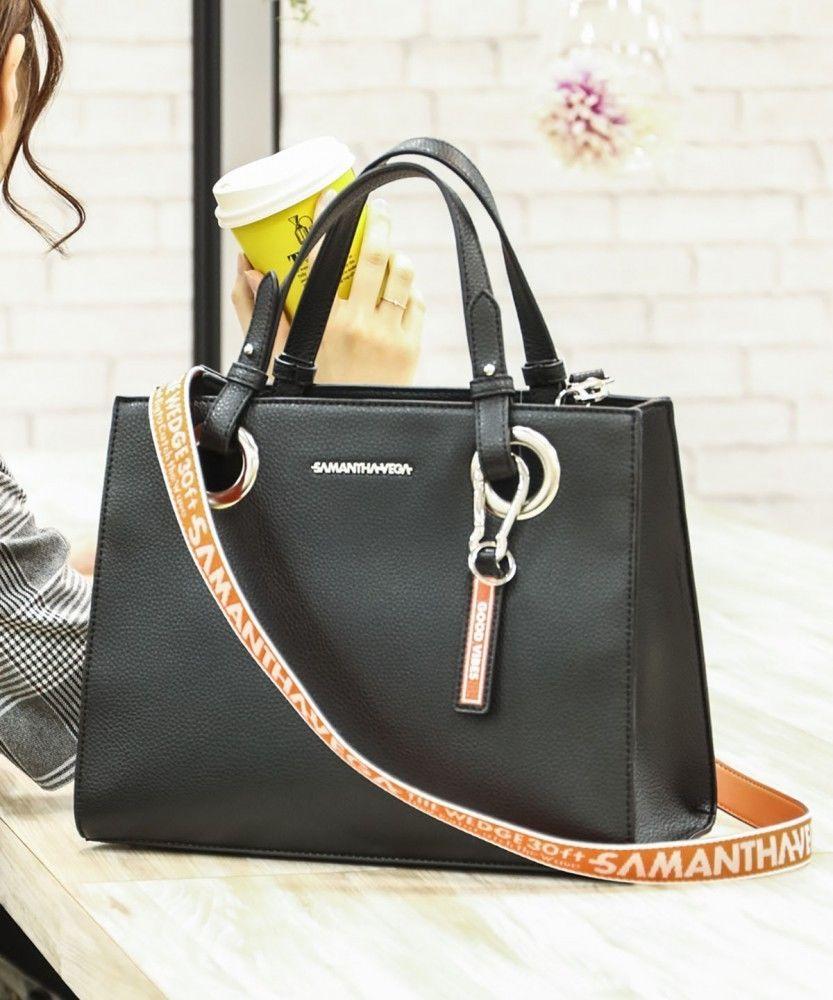 4e67f4c2159a Samantha Vega By Samantha Thavasa Logo Belt Hand Shoulder Bag Large   SamanthaThavasa  Shoulderbag