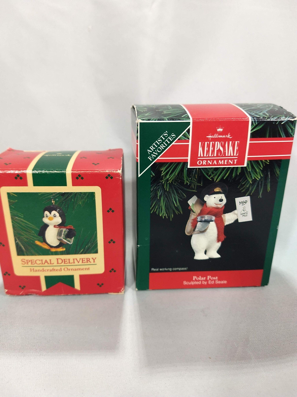 Vintage Hallmark Keepsake Ornaments Polar Post and Special