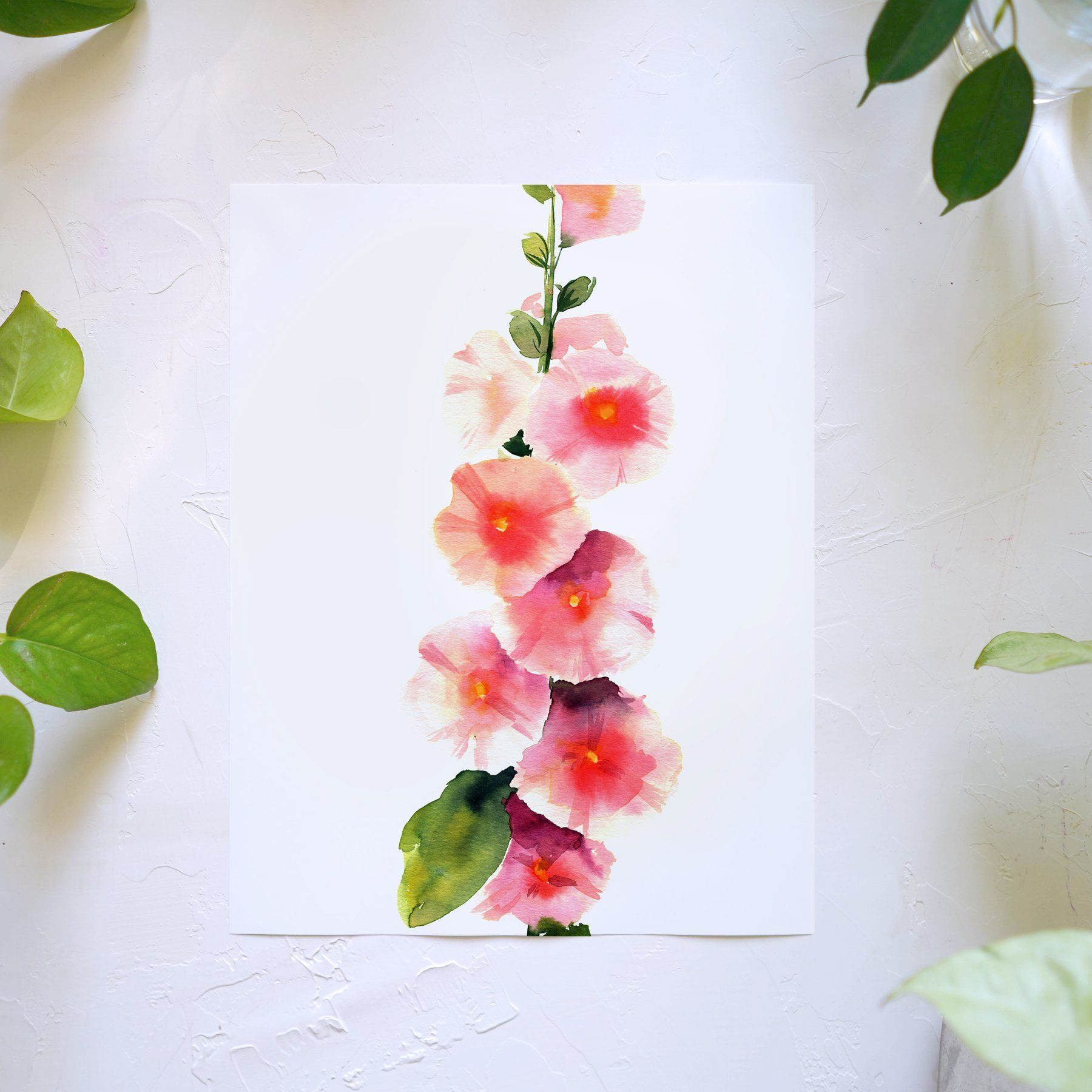 Hollyhock Watercolor Kit In 2020 Watercolor Kit Let S Make Art