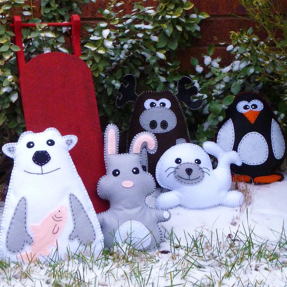 Pick 2 Stuffed Animal Hand Sewing PATTERNS - \
