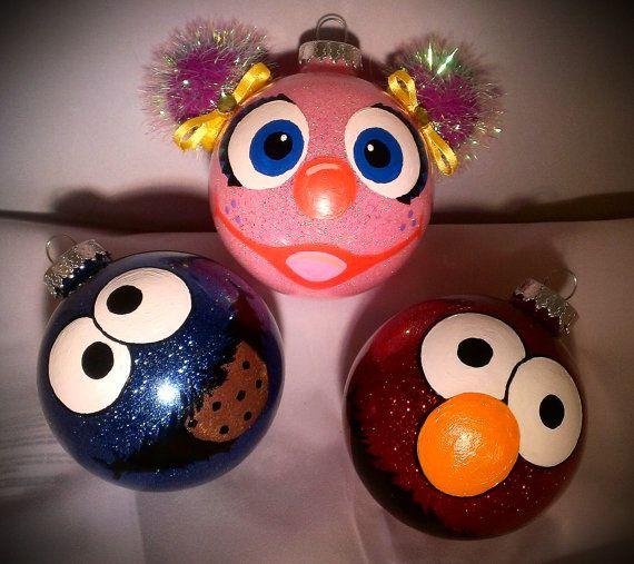 Sesame ornaments   Sesame street christmas, Elmo christmas ...