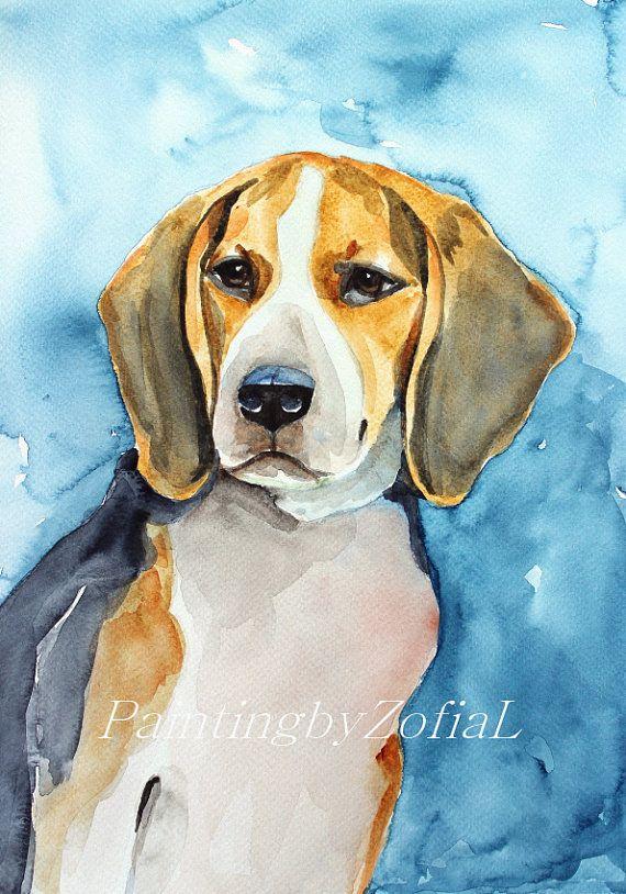 Beagle Dad Gifts Beagle Mom Gifts Beagle Gift Art Print Of