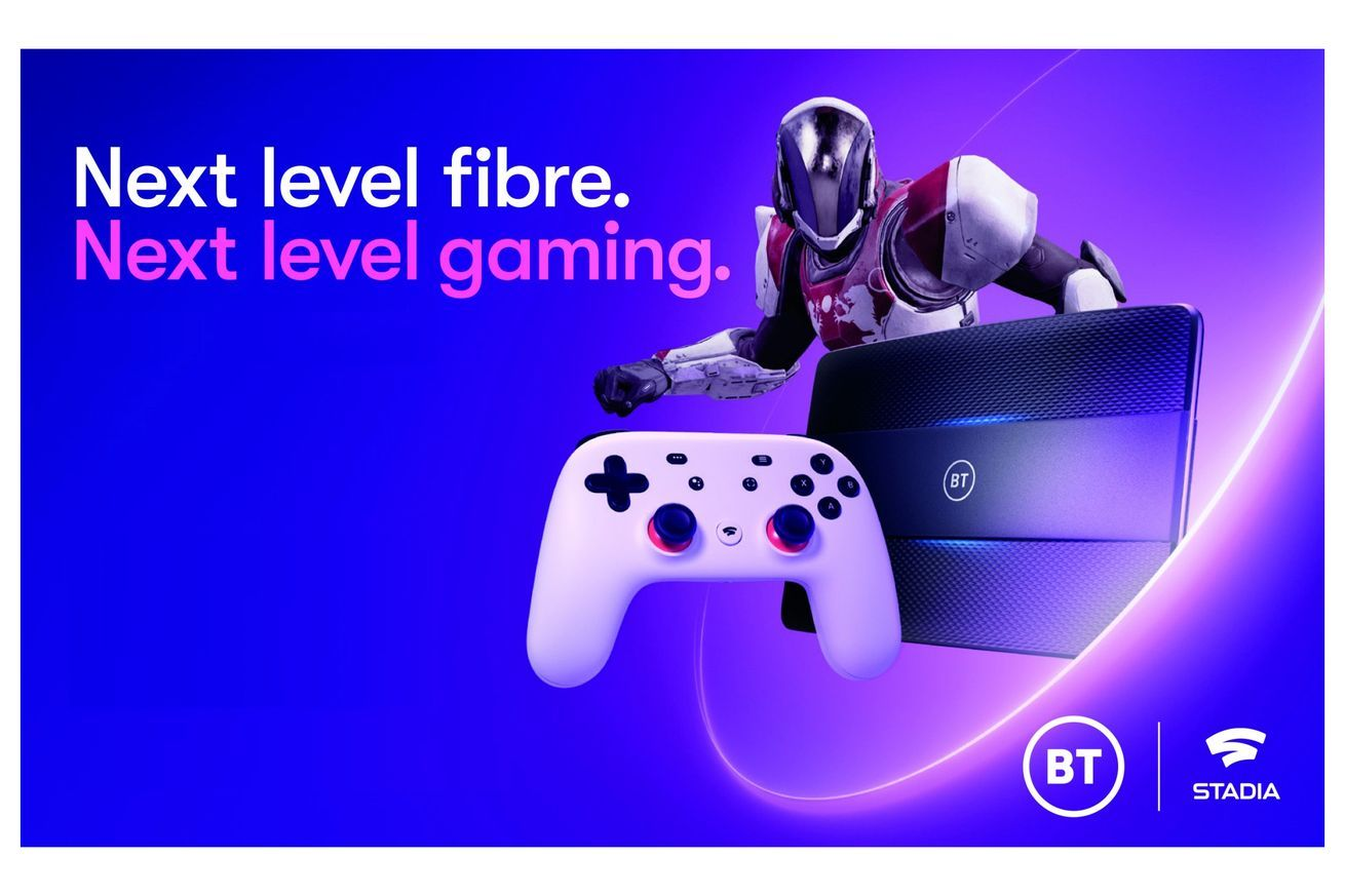 BT partners with Google to bundle free Stadia with