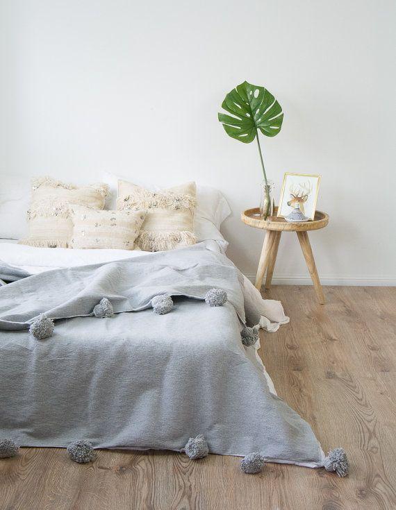 Marokkanische Pom-Pom-Decke Decke Hand ragte von MajorelDesign ...